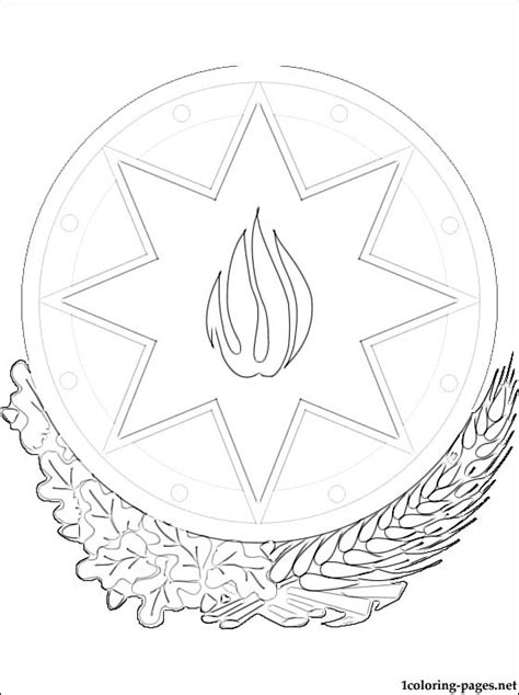 coloring pages respect free azerbaijan coat of arms coloring page coloring pages