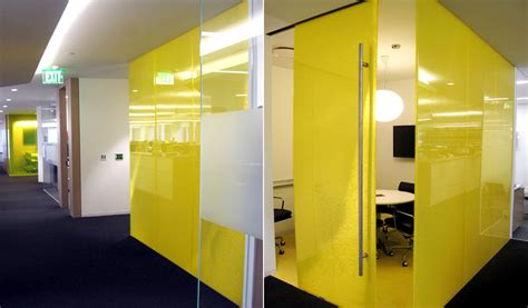Westfield Corporate Office by Westfield Offices Yellow Conference Room Panelite
