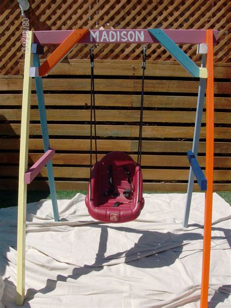 swinging csites swing set woodwork by woodbeck