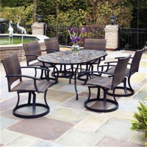 jc patio furniture 17 best images about outdoor swivel dining chairs on