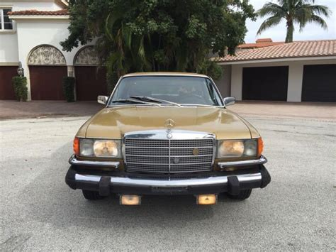 antique mercedes mercedes s class sedan 1975 gold for sale