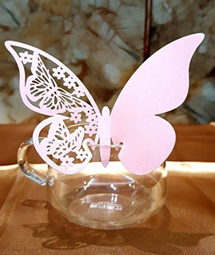 butterfly place cards for wine glasses template dikete 174 50pcs butterfly place cards wedding wine