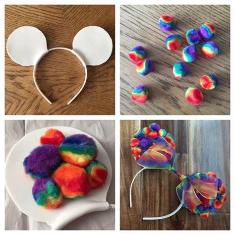 How To Make Mickey Mouse Ears With Construction Paper - diy rainbow mickey ears this tale