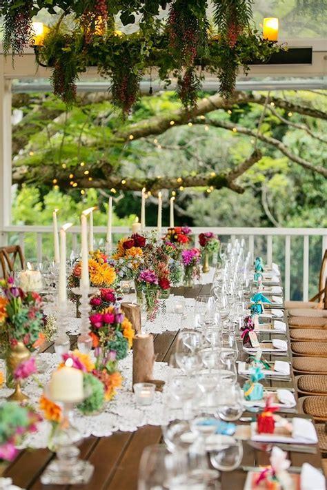 colorful wedding colorful outdoor wedding idea in queensland modwedding