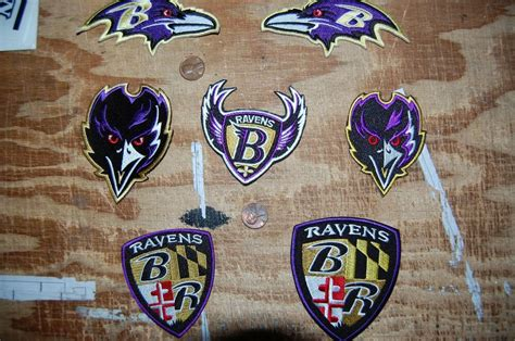 baltimore ravens assorted 7 patch lot logo patch crest
