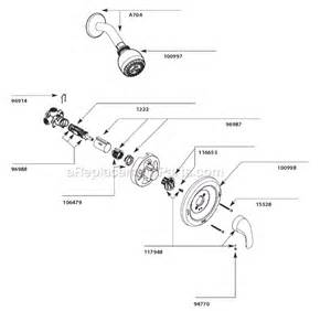 Moen Faucet Repair Manual Moen L82691 Parts List And Diagram Ereplacementparts Com