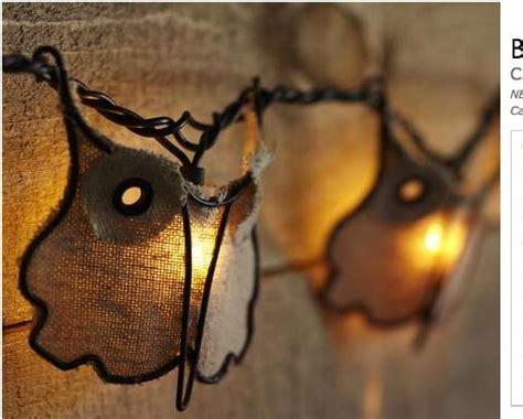 burlap lantern string lights subtly seasonal lanterns burlap owl string lights by pottery barn
