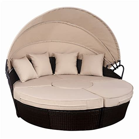 Outdoor Cushions Uae Tangkula Outdoor Patio Daybed With Canopy Wicker