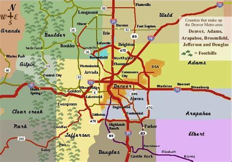 map of denver area denver area county map swimnova
