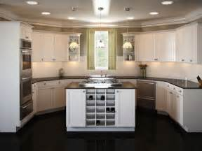 One Wall Kitchen Layout With Island U Shaped Kitchen Layouts Submited Images