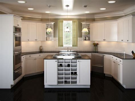 U Shaped Kitchen Island by U Shaped Kitchen Layouts With Island Interior Exterior