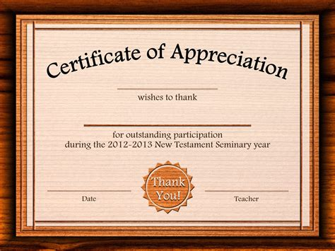 template for certificate of appreciation free certificate of appreciation templates for word