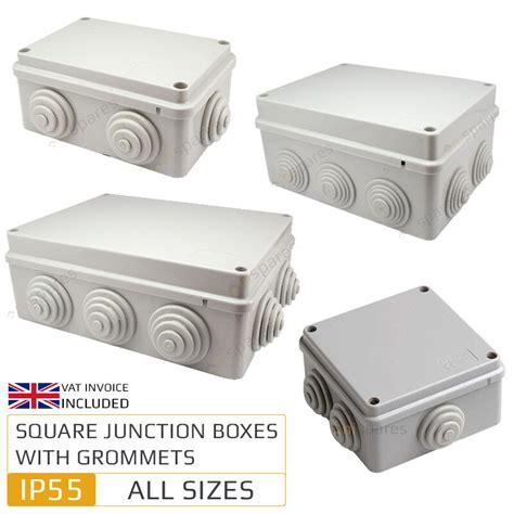Box Cctv weatherproof ip55 junction box with grommets outdoor