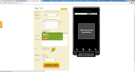 create app new android app template release create an android app