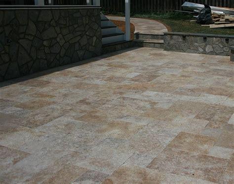 travertine paver patio contractor