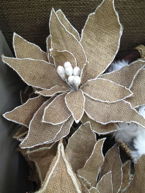 burlap flower template poinsettia burlap flowers pictures to pin on