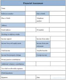 Financial Assessment Template by Financial Assessment Form Sle Financial Assessment