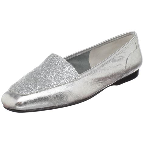 silver loafers womens enzo angiolini womens liberty loafer in silver silver