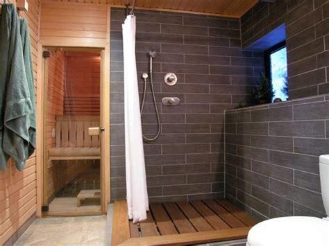 contemporary bathroom  shower  sauna hgtv