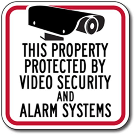 smaller security sign for homes stores and businesses