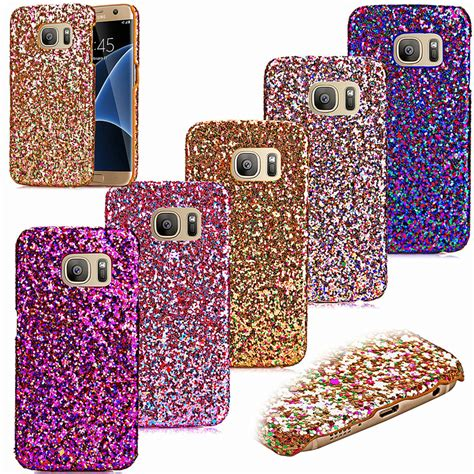 Casing Glitter Samsung S6 Edge Plus S6 Edge bling glitter aluminium phone for samsung s7 s7