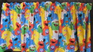 elmo curtains sesame street elmo window curtain valance 42 quot wx16 quot l