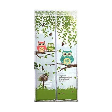 Tirai Magnet Anti Nyamuk Motif Owl jual home klik motif owl magnet tirai anti nyamuk hijau