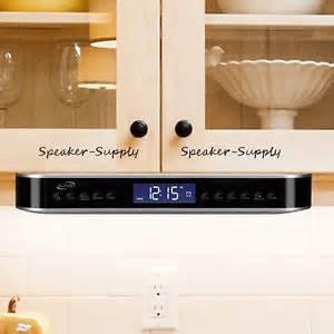 Kitchen Clock Radio Under Cabinet ilive wireless bluetooth under cabinet kitchen music