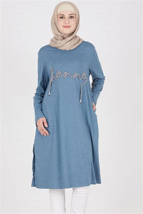 Tunik Heaven Lights sell vonita tunic blue tops hijabenka