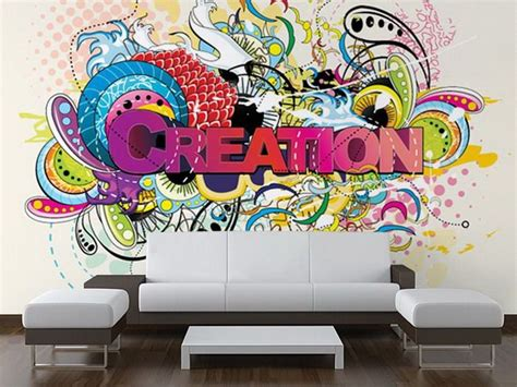 graffiti bedroom wall modern living room with creation wall mural wsu