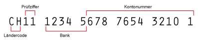 bank clearing nummer deutschland iban rechner schweiz berechnung der iban f 252 r schweizer