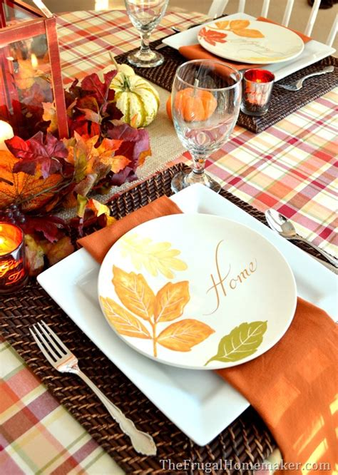 better homes and gardens fall dinnerware 31 days of fall inspiration fall table with better homes