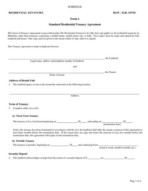 free copy rental lease agreement landlord rental