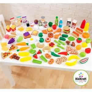 kidkraft tasty treats play food set 115 pieces walmart