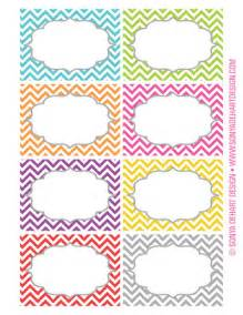 12 awesome free customizable candy buffet labels chevron