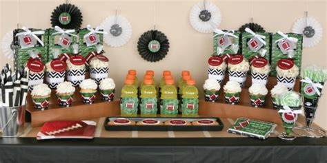 football themed baby shower decorations end zone football baby shower theme
