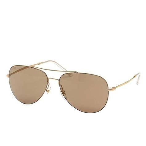 light brown aviator sunglasses authentic gucci aviator sunglasses lens light brown gold