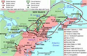 Outline Map And Indian War by Indian War