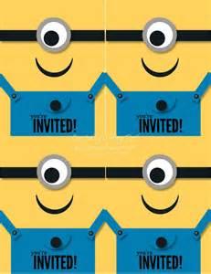 minion invitations template minion birthday invitation gangcraft net