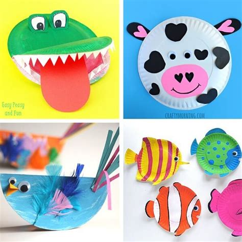 Paper Plate Animal Crafts - 40 animal paper plate crafts for the