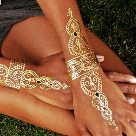 gold pattern tattoo 9 glitter mehndi designs that promise you shall shine