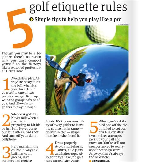 how to play golf for beginners a guide to learn the golf etiquette clubs balls types of play a practice schedule books a refresher on golf etiquette tips to golf by 171 ottawa