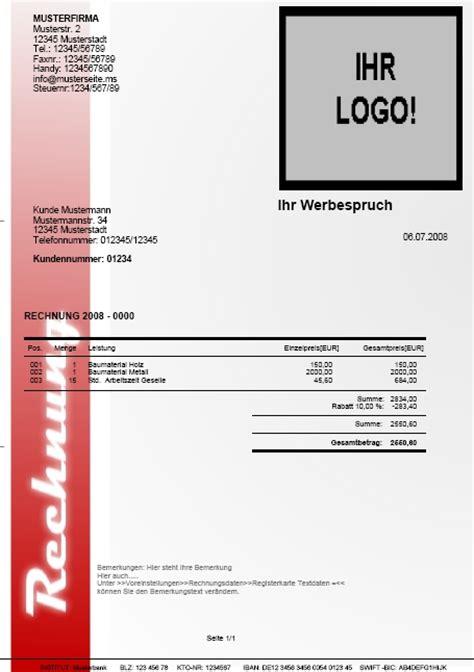 Rechnungsvorlage Logo Top Rechnung F 252 R Handwerk Freiberufler Selbst 228 Ndige Und Kleine Unternehmen