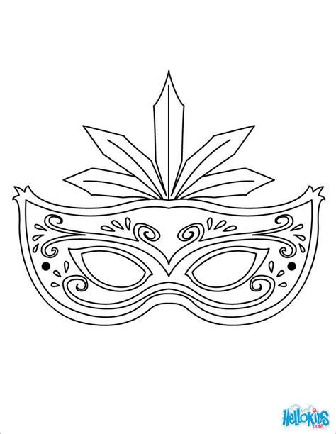 masquerade masks templates masquerade mask coloring page mask to color