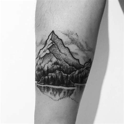 mountain landscape tattoo best 25 landscape ideas on mountain