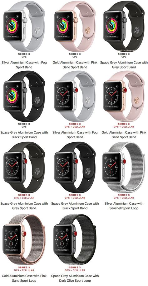 Apple Series 3 Gps 38mm Gold Alum With Pink Sand Sport Band Bnob apple series 3 aluminum pictures official photos