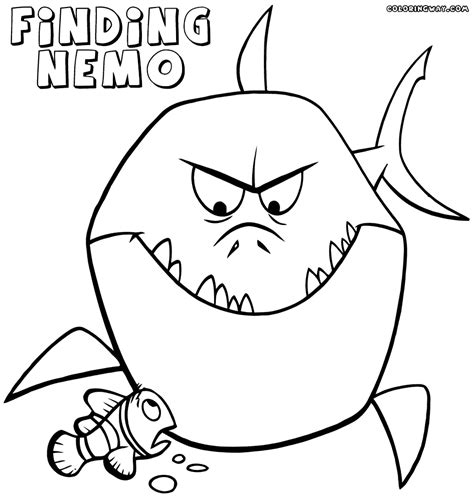 nemo shark coloring pages finding nemo coloring pages coloring pages to download