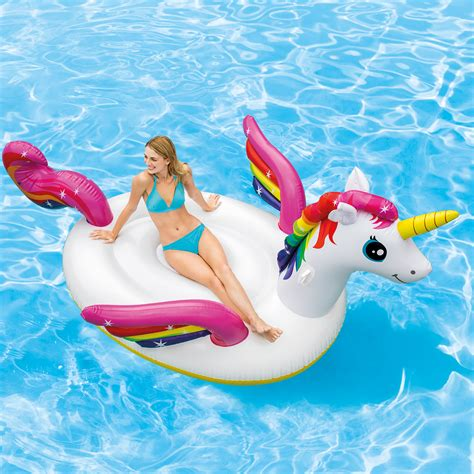 Intex Unicorn Ride On Pelung unicorn sprinkler products pool floats and more