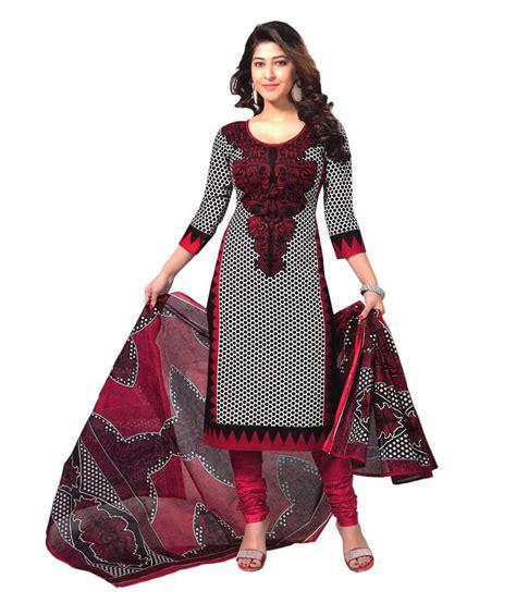 snapdeal shopping reya black cotton dress material buy reya black cotton