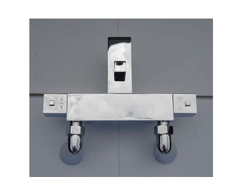 thermostatic bath shower tap square style deck mounted thermostatic bath shower taps